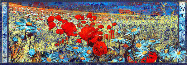 Papaver Art Print featuring the painting Melancholic Of Late Summer by Anne Weirich