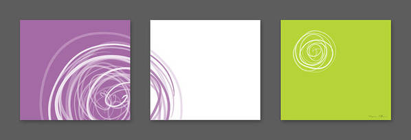 Abstract Art Print featuring the digital art Purple Twirl by Nomi Elboim