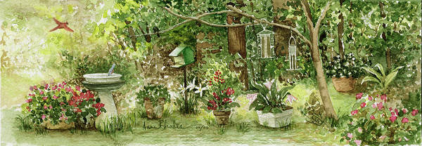 Nature Art Print featuring the painting Sanctuary by Anne Rhodes