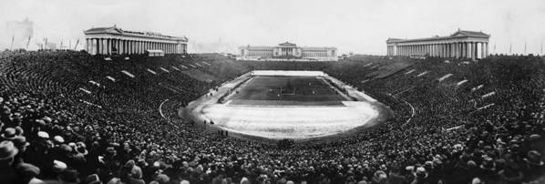 1950s Candids Art Print featuring the photograph Soldier Field, Chicago, Illinois, Circa by Everett
