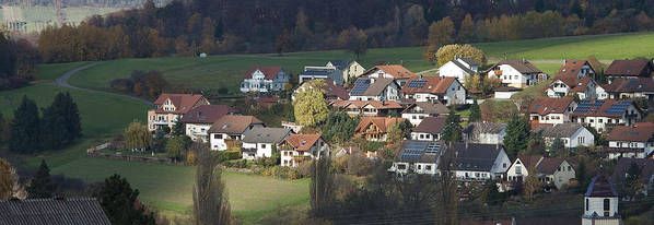 Color Image Art Print featuring the photograph Village Of Residential Homes In Germany by Greg Dale