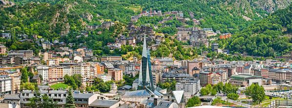 Andorra Art Print featuring the photograph Andorra La Vella City by Gurgen Bakhshetsyan