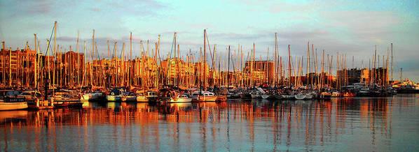 Europe Art Print featuring the photograph Port Vell - Barcelona by Juergen Weiss