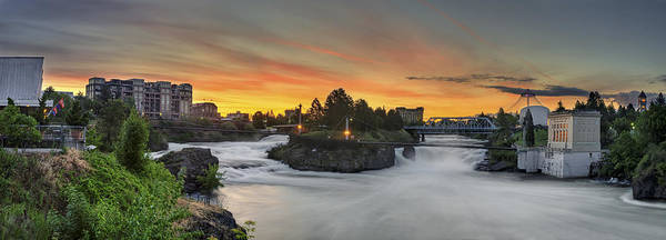 Spokane Art Print featuring the photograph Spokane Sunrise by Michael Gass