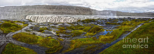 Detifoss Art Print featuring the photograph Detifoss Waterfall In Iceland - 03 by Gregory Dyer