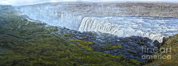 Dettifoss Waterfall Iceland Art Print featuring the photograph Dettifoss Waterfall Iceland by Gregory Dyer