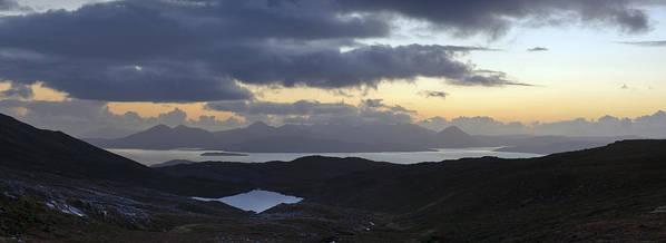 Applecross Peninsula Art Print featuring the photograph Dusk Panorama Of Skye by Gary Eason