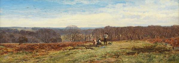 Woods Print featuring the painting In The New Forest by Heywood Hardy