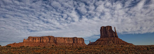 Light Art Print featuring the photograph Morning Clouds Over Monument Valley by Robert Postma