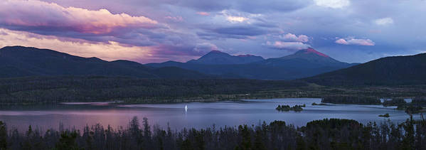 Horizontal Art Print featuring the photograph Sailboat On Lake Dillon Below A Clearing Storm, Colorado, Usa, August 2010 by Timothy Faust