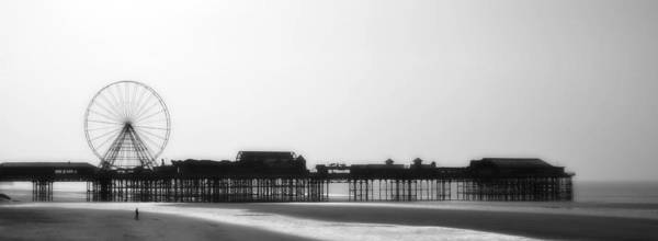 Seaside.pier Art Print featuring the photograph Blackpool by Alison Whewell