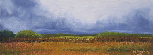 Virginia Landscape Art Print featuring the painting Brewing Storm Clouds by Wynn Creasy