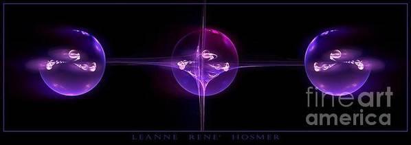 Digital Art Print featuring the digital art Captured Life by LeAnne Hosmer