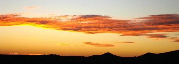 Sunset Art Print featuring the photograph Glowing Sunset One by Ana Villaronga