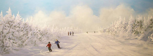 Ski Art Print featuring the painting Minus 9 by Ken Ahlering