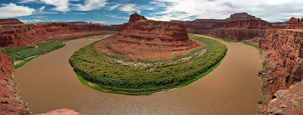3scape Photos Art Print featuring the photograph Colorado River Gooseneck by Adam Romanowicz