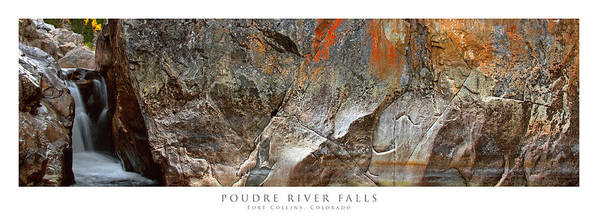 Colorado Art Print featuring the photograph Poudre River Falls Fort Collins by Posters of Colorado