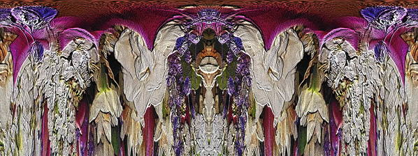 Abstract Print featuring the digital art The Bouquet Unleashed 6 by Tim Allen