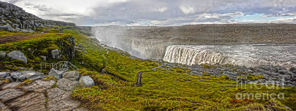 Detifoss Art Print featuring the photograph Detifoss Waterfall In Iceland - 02 by Gregory Dyer