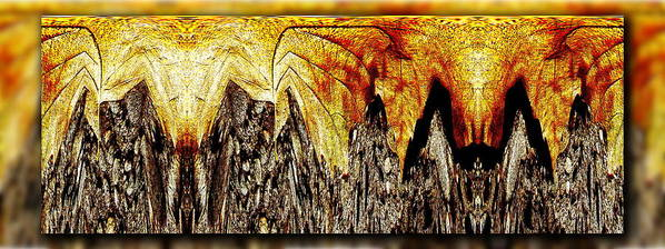 Abstract Art Print featuring the digital art Leaf Meld by Tim Allen