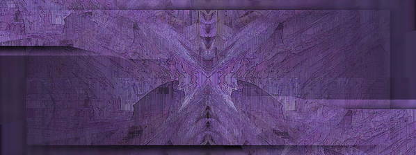 Abstract Print featuring the digital art Purple Poeticum by Tim Allen
