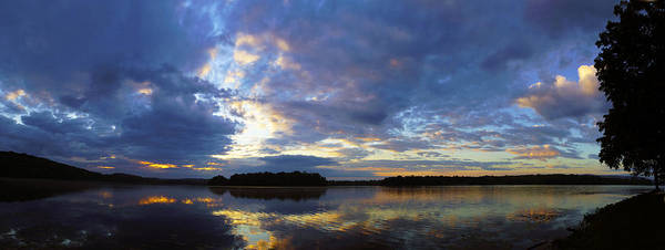 Sunrise Sky Clouds Water Reflection Lake Heron Nature Art Print featuring the photograph The Colors Of Morning by John Ungureanu