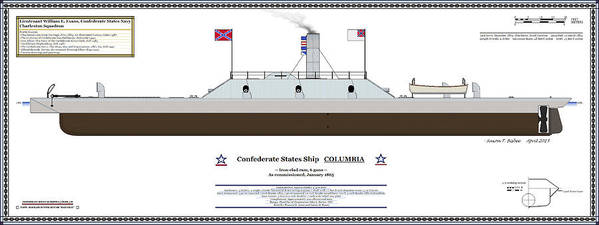 Navy Art Print Featuring The Digital Css Columbia Color Profile By Saxon Bisbee