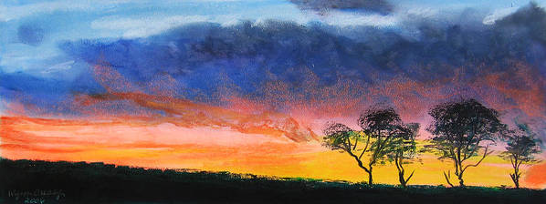 Sunset Art Print featuring the painting Dancing On Sundays by Wynn Creasy