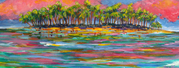 Tropics Art Print featuring the painting Deserted Island by Anne Marie Brown