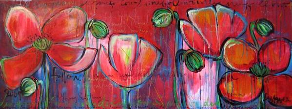 Red Art Print featuring the painting Did You Say Sanctuary by Laurie Maves ART
