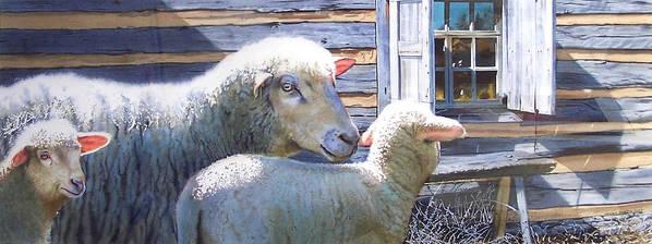 Sheep Art Print featuring the painting Life Renewed by Denny Bond