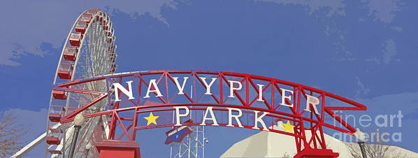 Navy Pier Art Print featuring the photograph Navy Pier by Mary Machare
