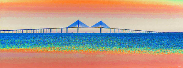 Art Print featuring the painting Skyway Morning by David Lee Thompson