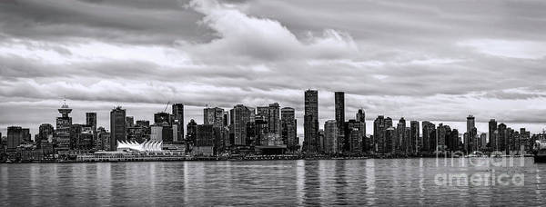 Vancouver Art Print featuring the photograph Vancouver In Black And White. by Viktor Birkus