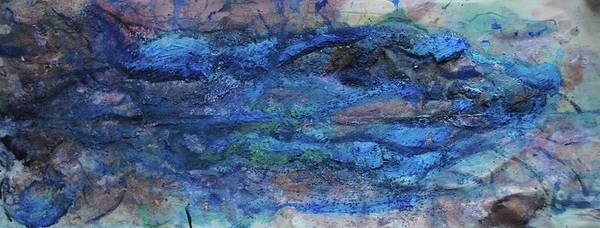 Mixed Media Art Print featuring the painting Waves by Margaret Fronimos