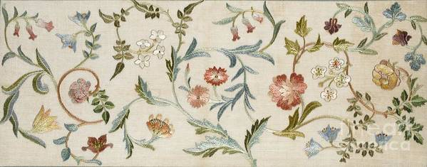 Embroidery Art Print featuring the tapestry - textile A Garden Piece by May Morris