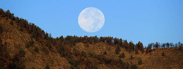 Moon Art Print featuring the photograph Supermoon Set by Emily Clingman