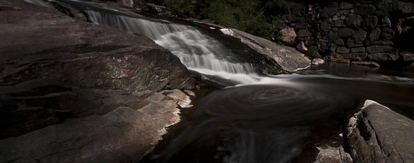 Waterfall Panoramic Art Print featuring the photograph Waterfall Panoramic by Michael Murphy