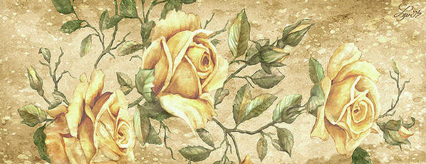 Roses Art Print featuring the painting Aunt Marie's Roses by Beverly Levi-Parker