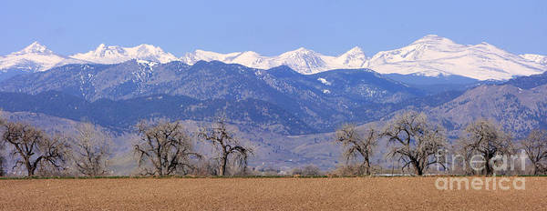Boulder Art Print featuring the photograph Boulder County Colorado Panorama by James BO Insogna