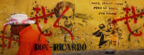 Grafitti Art Print featuring the photograph Don-ricardo by Skip Hunt