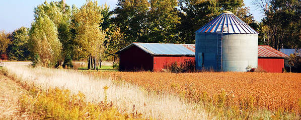 Grain Bin Print featuring the photograph Fall Bin by Jame Hayes