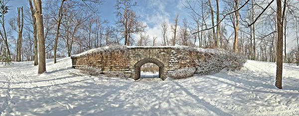 Ivy Covered Bridge Art Print featuring the photograph Ivy Bridge Winter by Joe Cascio