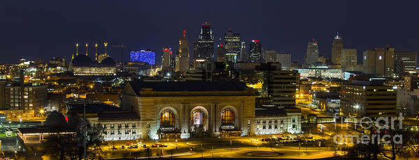 Union Station Art Print featuring the photograph Night At Union Station by Carolyn Fox