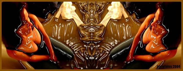 Rorschach Art Print featuring the photograph Rorschach Test by Gerard Yates