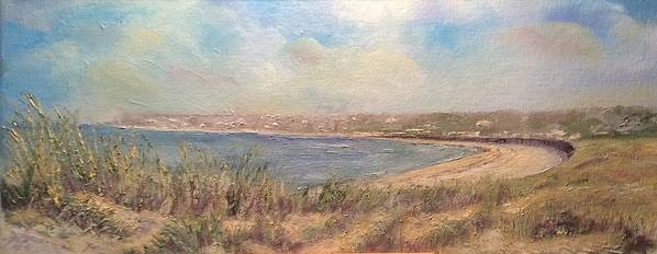 Sand Dunes Art Print featuring the painting Sand Dunes, St. Ouens Bay by Mick Ruellan