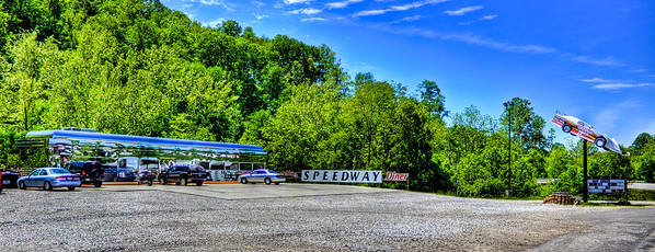 Diner Art Print featuring the photograph Speedway Diner by Jonny D