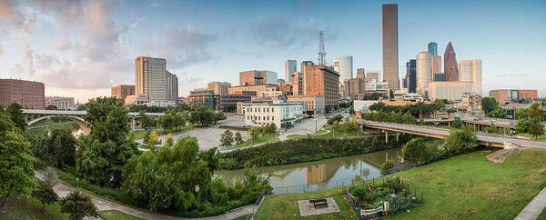 University Art Print featuring the photograph Downtown Houston From Uh-d. September by Silvio Ligutti