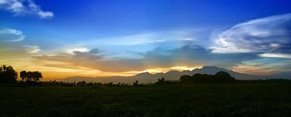 Mountain Pic Foto Gallery Image Art Print featuring the digital art Kelud Sunset by Mochamad Gunarko