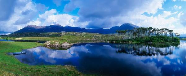 Atmospheric Art Print featuring the photograph Lough Derryclare, Connemara, Co Galway by The Irish Image Collection
